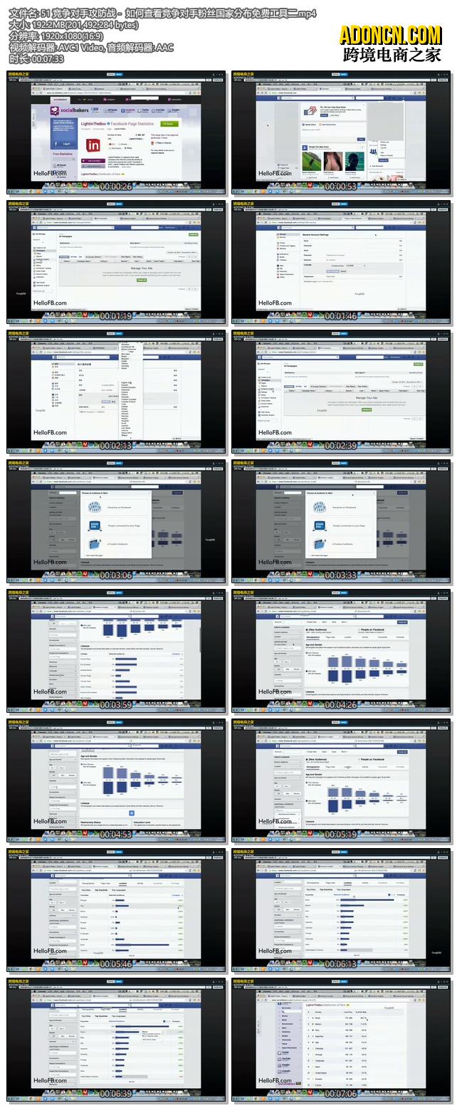 Facebook竞争对手攻防战 -  如何查看竞争对手粉丝国家分布免费工具二(外贸电商在Facebook上怎么做推广如何做营销视频教程)