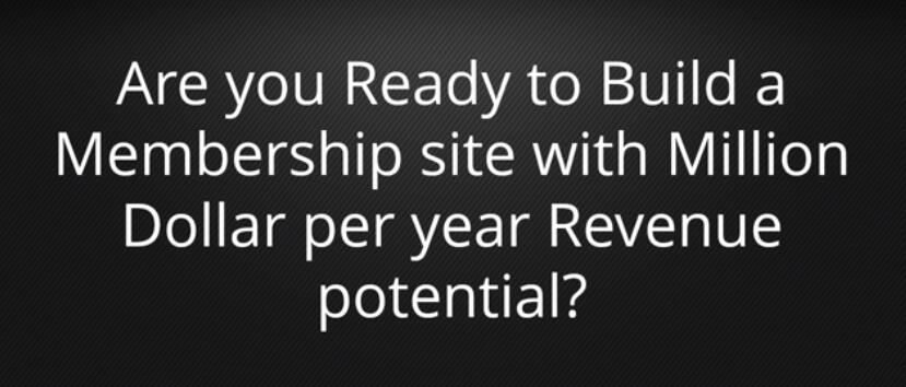 教你建立一个会员网站的秘密,每年可以赚取$100万美元的收入+(Membership Site Genius)