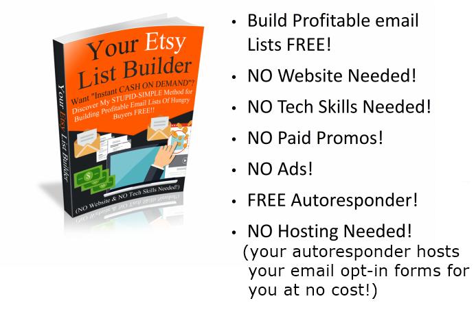 零成本获得数百甚至数千个Etsy电子邮件订阅用户(Your Etsy List Builder)