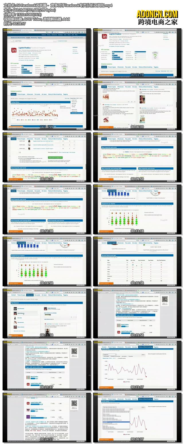 Facebook工具篇 -  竞争对手facebook专页分析工具包(外贸电商在Facebook上怎么做推广如何做营销视频教程)