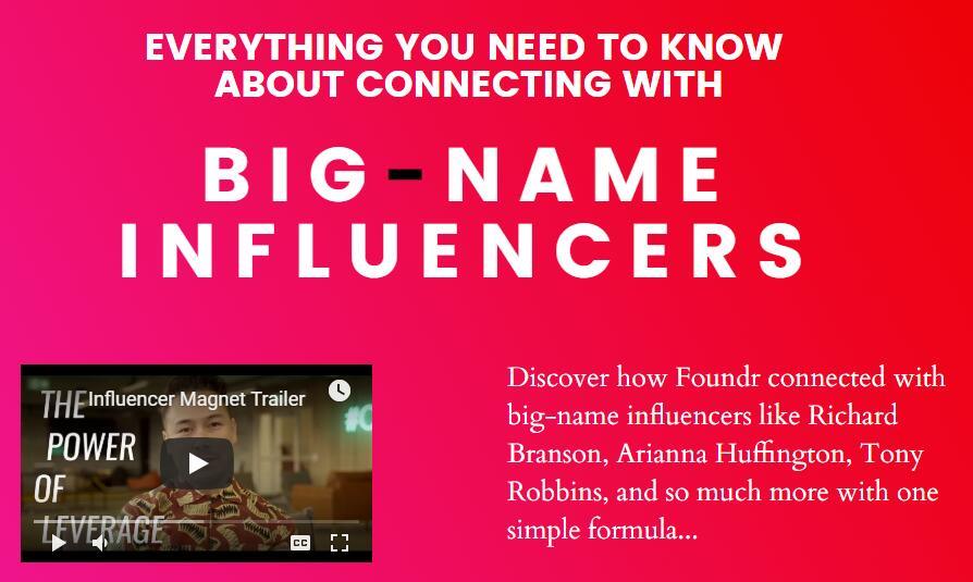 展示于您 找网红 找红人 找影响力大的人物 找知名人物的详细过程(Influencer Magnet)