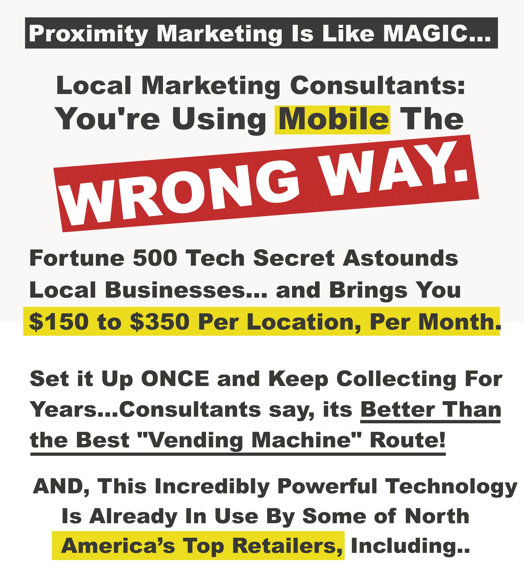 教你如何近距离营销改变客户体验,增加品牌亲和力,并自动推动销售。(Offline Proximity Paydays)