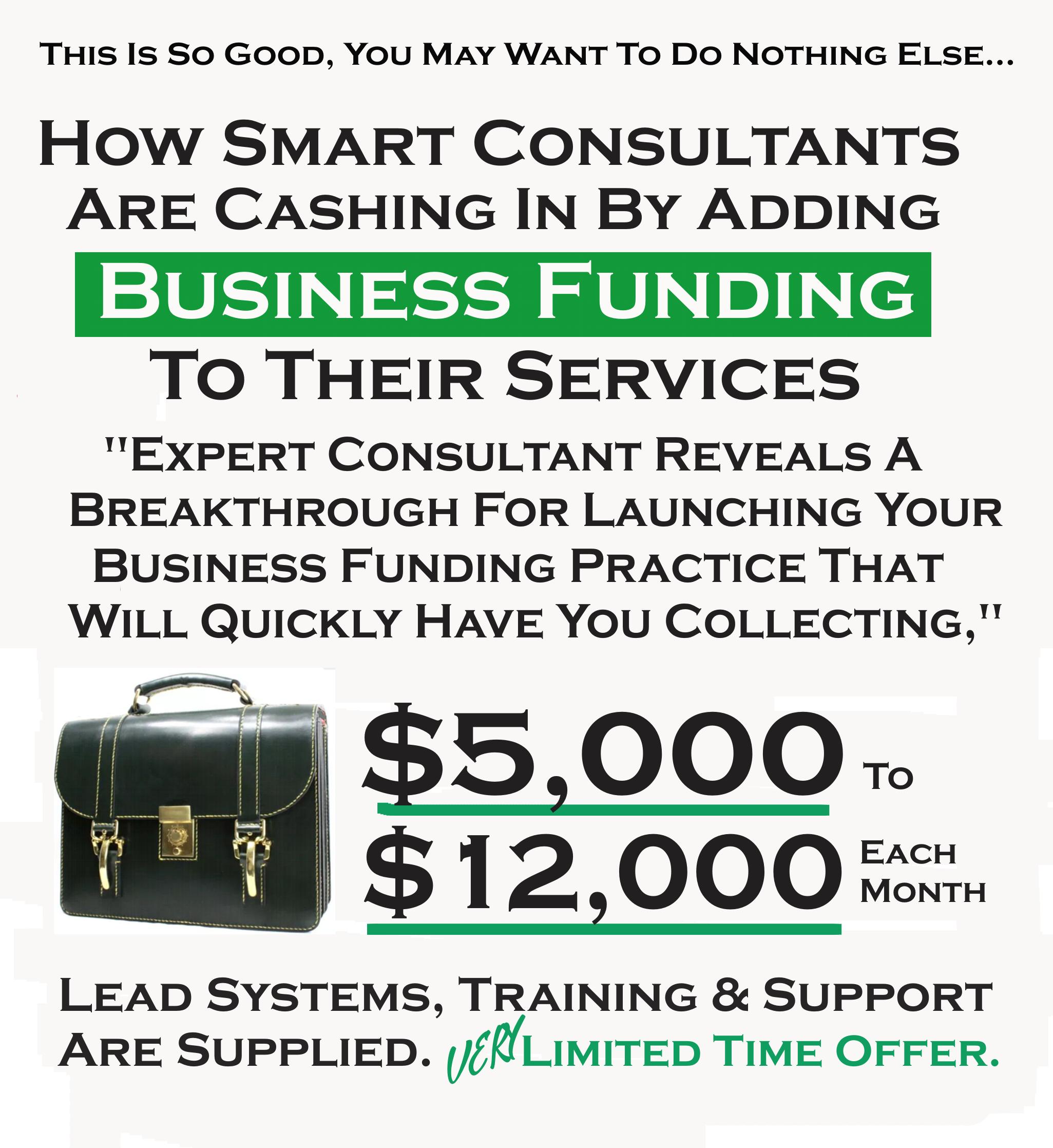专家揭示了一个突破及启动你的小企业融资实战培训教程,将很快让你收集到每月$5000美元到$12000美元!(Local Freelance Funding Formula)