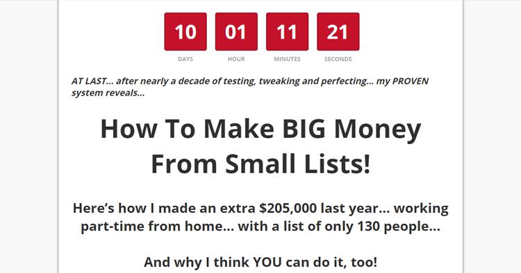 如何从小小的邮件订阅列表中赚大钱~(Big Money Small Lists)