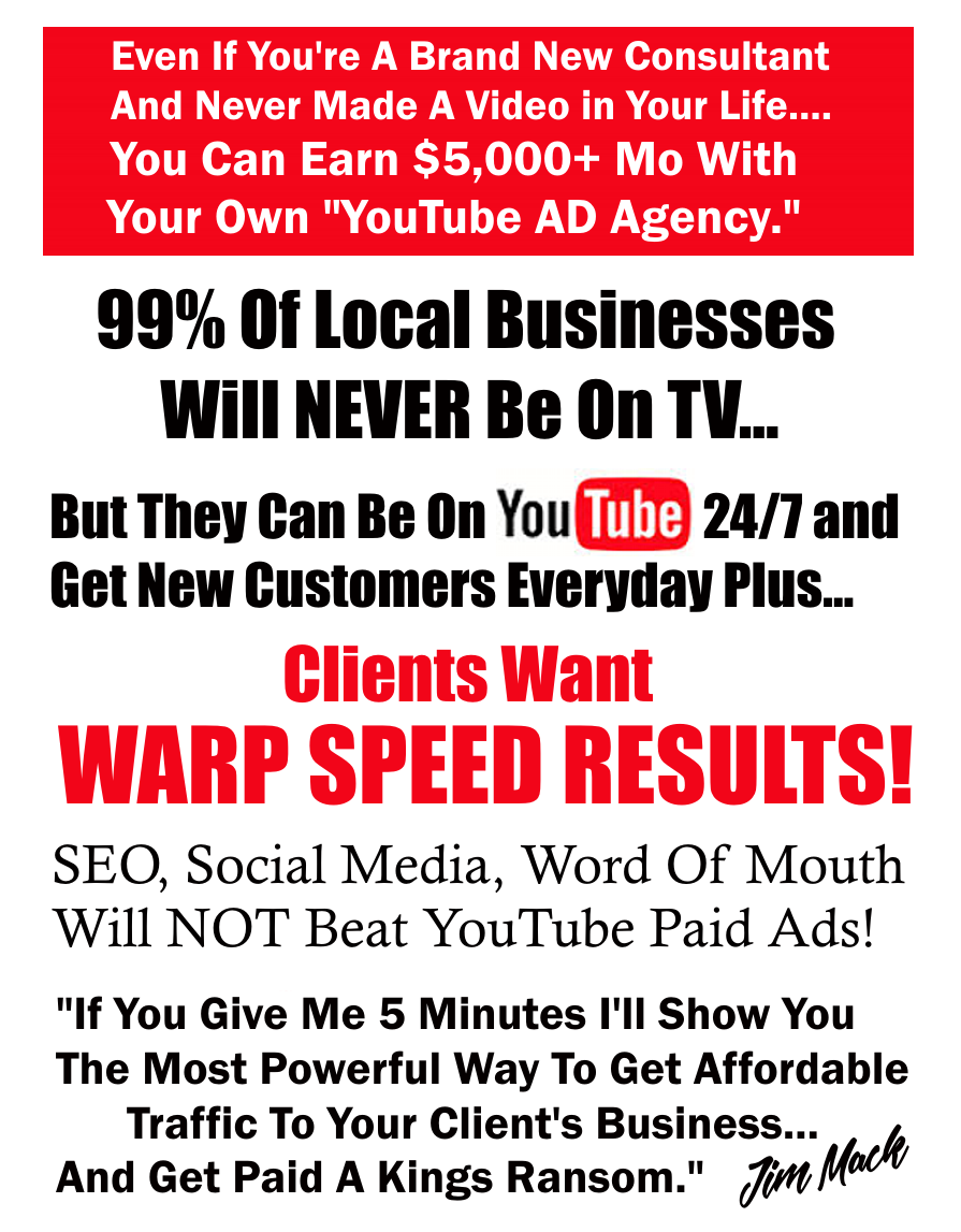 如何花更少的钱在YouTube广告上,实际上却赚更多钱?(Local YouTube For Cash Confidential)