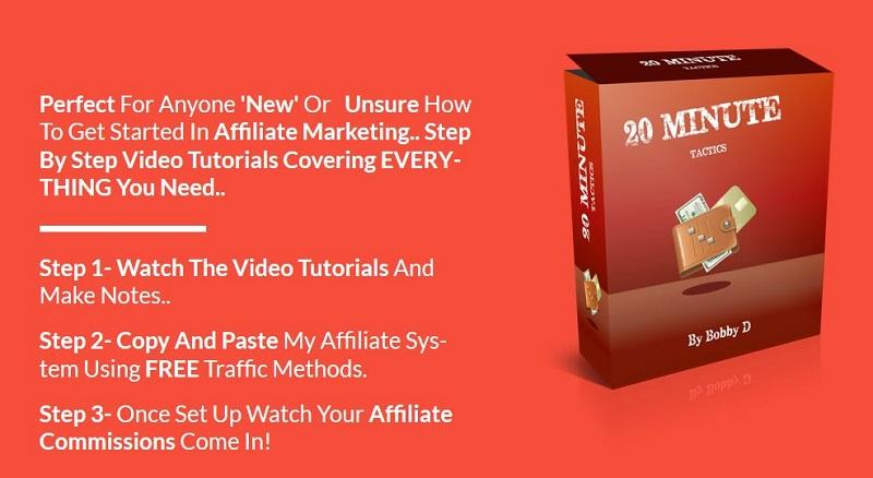 一步一步的指导教您如何成为一个成功的联盟营销者和赚取被动收入(20 Minute Tactics)