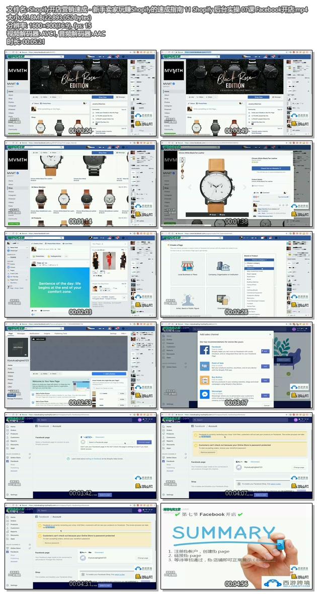 Shopify教程 - SHOPIFY注册开店建站运营营销推广教程 Shopify后台实操 07课 Facebook开店