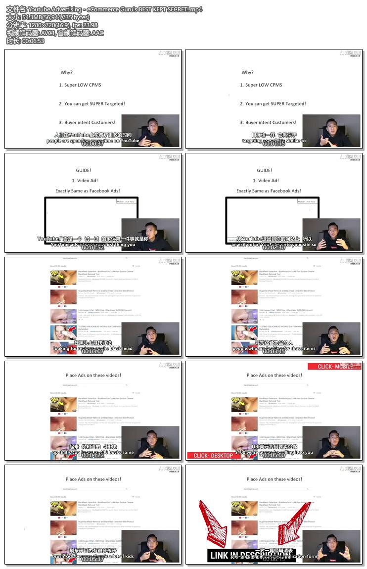 Youtube广告-电子商务大师最好的秘密! (Youtube Advertising - eCommerce Guru's BEST KEPT SECRET!)
