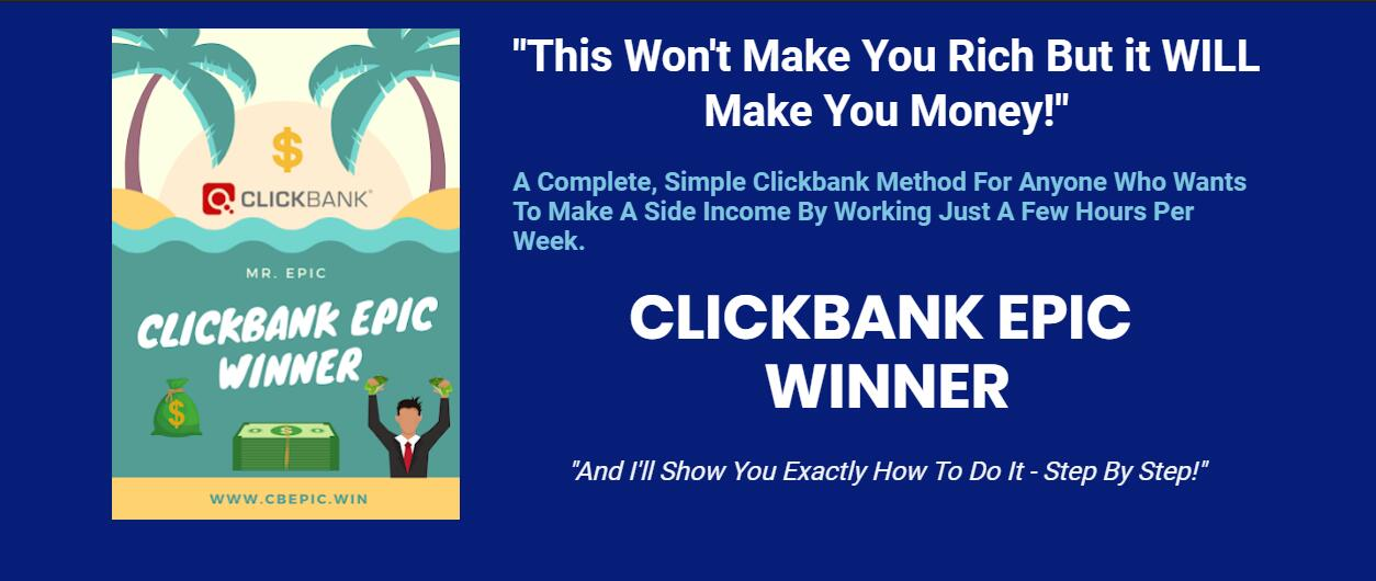 如果你正在寻找一种简单而有趣的额外收入来源,Google Ads + Clickbank 这是为你量身准备的教程。(ClickBank Epic Winner)