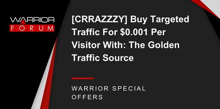 精确流量只要$0.001/访客!超值!Buy Targeted Traffic For $0.001 Per Visitor(The Golden Traffic Source)
