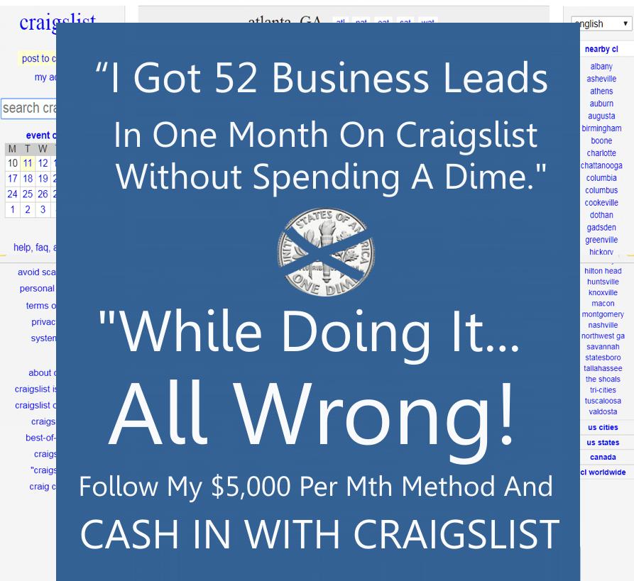 我在Craigslist上一个月就找到了52条商业Offer,而且一分钱都没花。(Craig's Power Playbook)