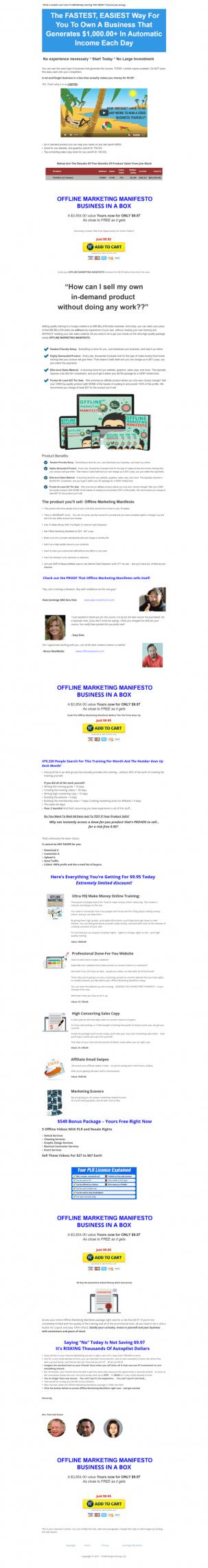 教你如何拥有一家每天自动产生$1000美元以上收入的公司 - 最快、最简单的方法(Offline Marketing Business In A Box PLR)