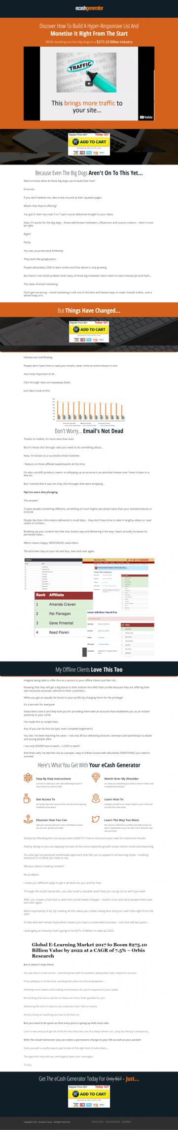 学习此教程会给你的网址带来更多的流量哦!(eCash Generator)