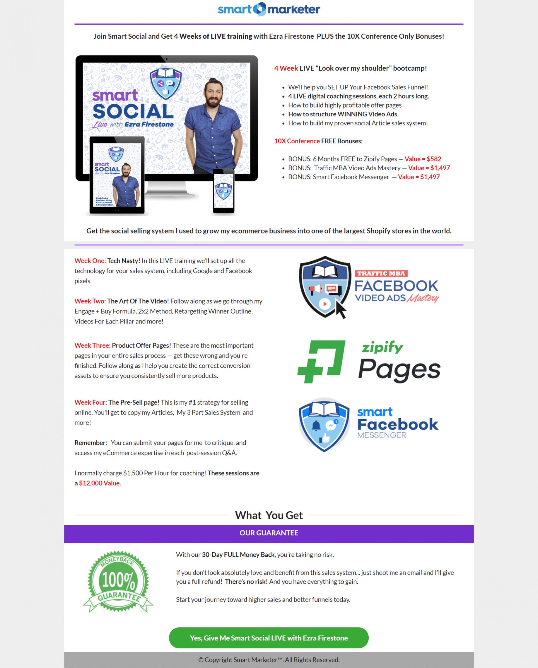 试试我们的社交销售系统助你成为世界上最大的Shopify店铺(Smart Social Live)