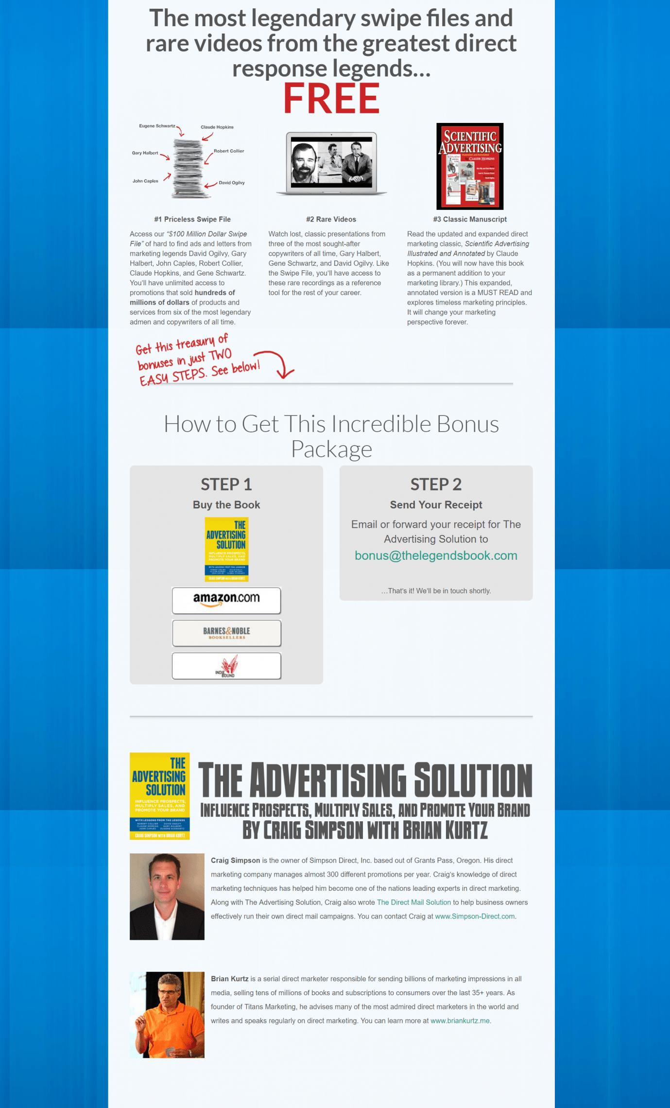 购买广告解决方案,以获得最大的直接营销资源节省所有时间(0 Million Dollar Swipe File)