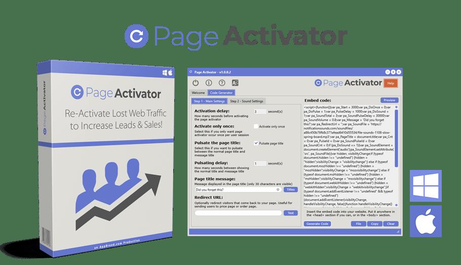 重新激活网站访问者并增加流量转化和销售的强大工具(Page Activator)