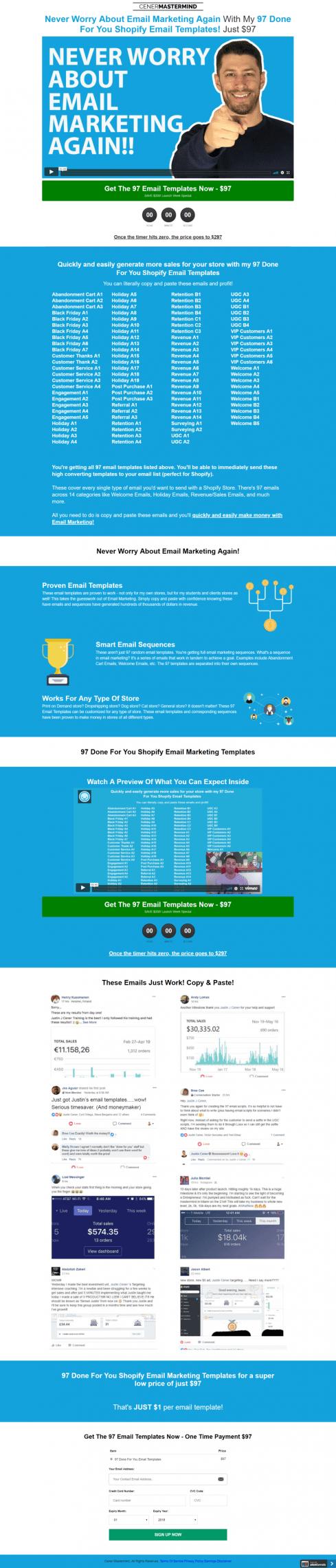 97套购物电子邮件模板为你快速的产生更多的销量(97 Done For You Email Templates)