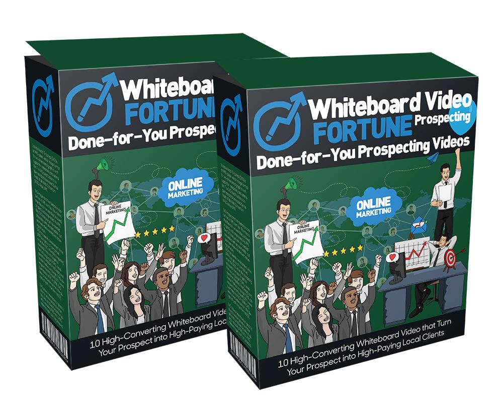 使用1分钟的视频如立即提高你的客户转化率(Whiteboard Video Fortune Prospecting)