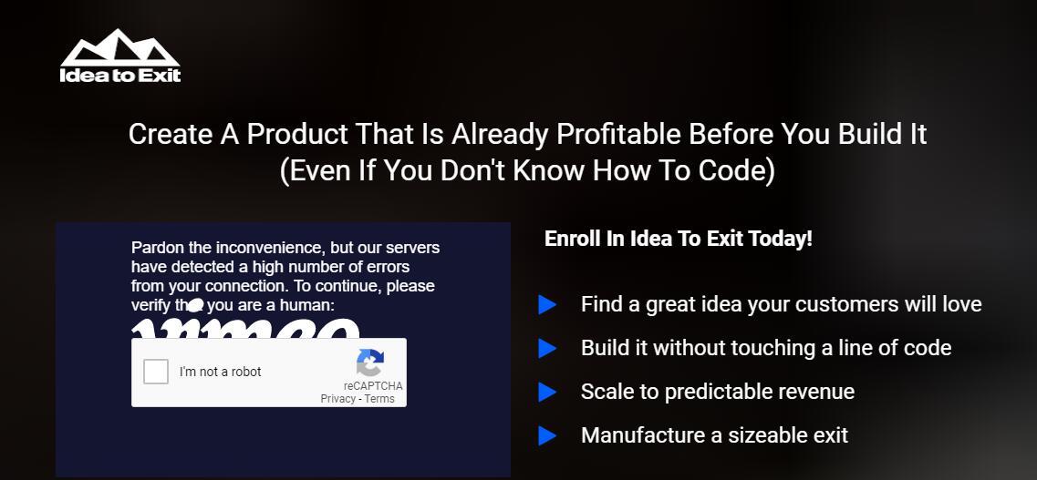 在创建产品之前,先创建一个已经盈利的产品  (即使你不知道任何代码)(Idea To Exit)