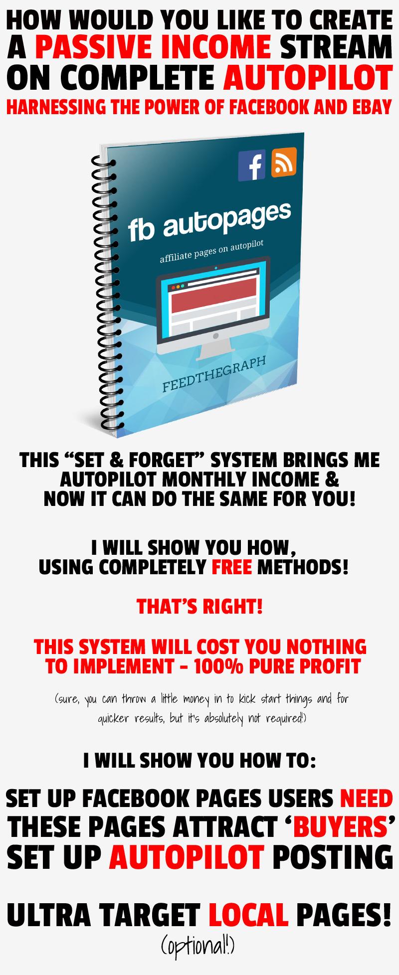 教你如何创建一个被动收入流,完全自动运营利用Facebook和Ebay的力量!(Facebook Auto Pages)