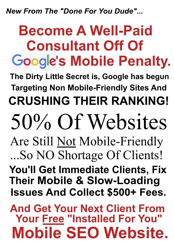 谷歌已经开始瞄准不支持移动设备的网站,并打破了它们的排名优势。(Dynamic Mobile SEO Dollars)