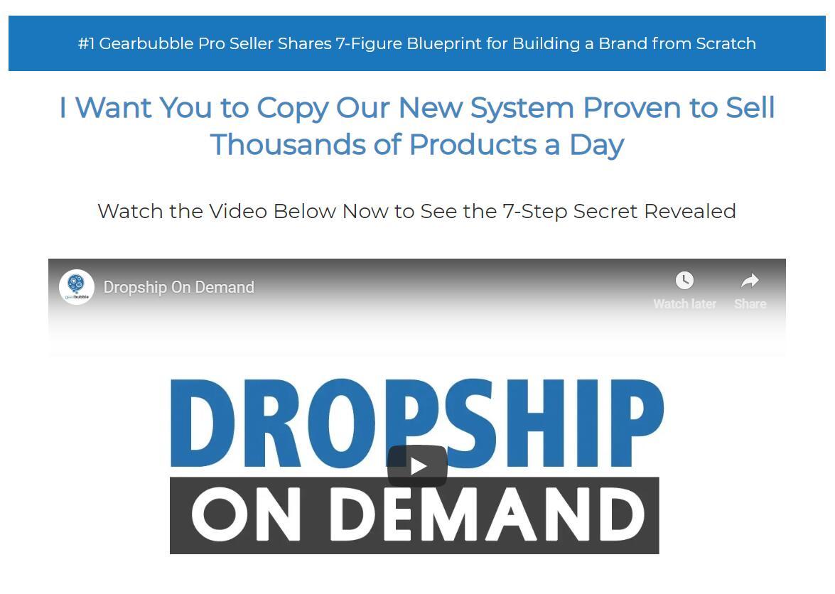 大卖家分享了从零开始打造品牌的百万美元蓝图(Dropship On Demand )