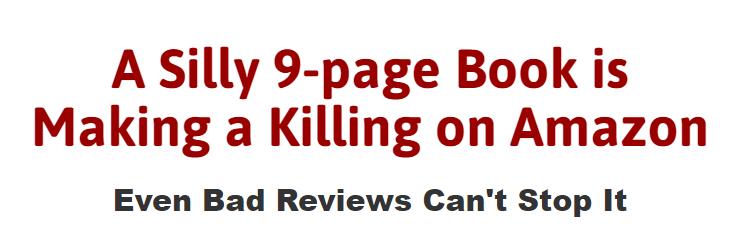 不敢相信,一本愚蠢的9页书在亚马逊上赚了5000多美元!(Micro-Content Rapid Royalties)