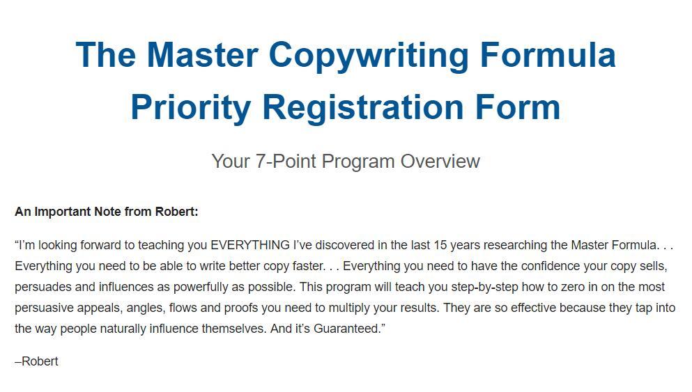 教你如何让你的稿子/文案尽可能有力地推销、说服和影响!(Copywriting Master Formula )