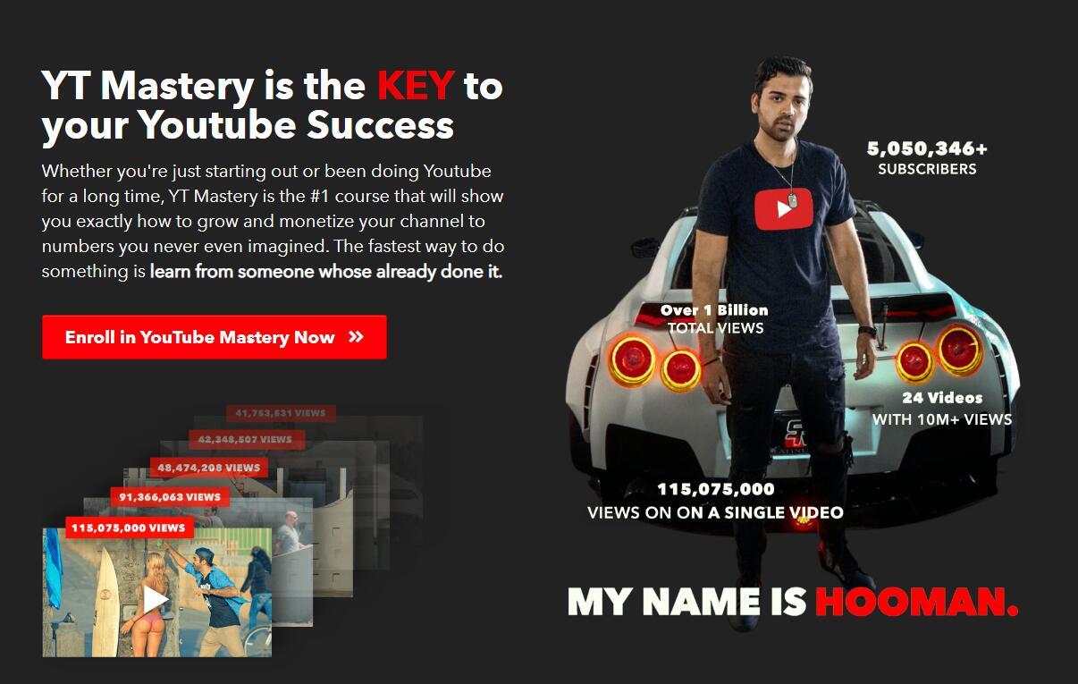 无论你是刚刚起步还是已经在YouTube上做了很长一段时间,这一门课程,它将告诉你如何成长,如何将你的频道转化为你从未想过的数字收益。(HoomanTV's YT Mastery )