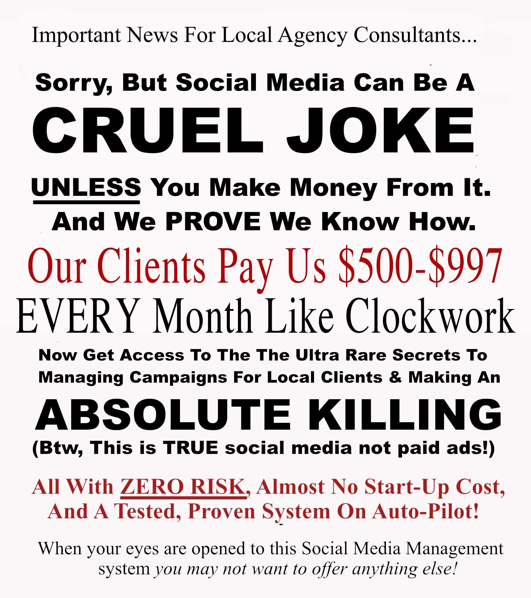 本地社交策略: Get access to the ultra rare secrets to managing campaigns for local clients & making an absolute killing.(Local Social Sumo)