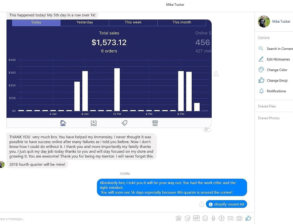 一名一文不名的员工,之前工作每小时赚9美元,而在操作一个月的电商业务中却赚了5,458美元!(Shopify Mastery Blueprint)
