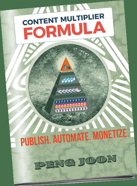 一个简单的三步策略:发布、自动化和货币化。(Content Multiplier Formula)