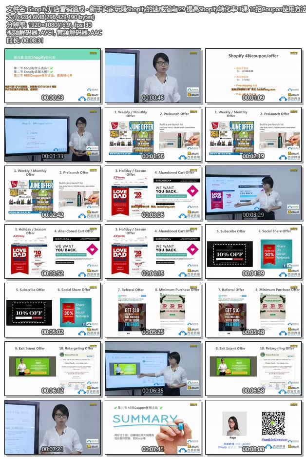 Shopify教程 - SHOPIFY注册开店建站运营营销推广教程 提高Shopify转化率 3课 10招Coupon使用方法,提高转化率