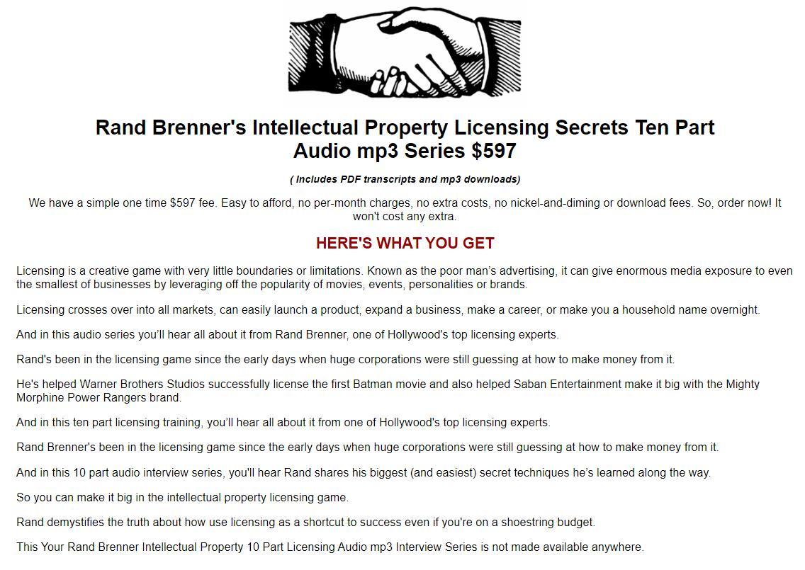 知识付费时代,玩转知识产权许可的秘密!(Rand Brenner Licensing Secrets )