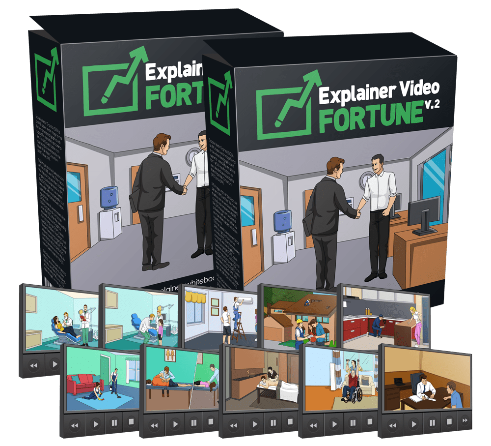 为你提供一个完美制作的视频,产生Leads,并把他们转化成客户!(Explainer Video Fortune vol.2)