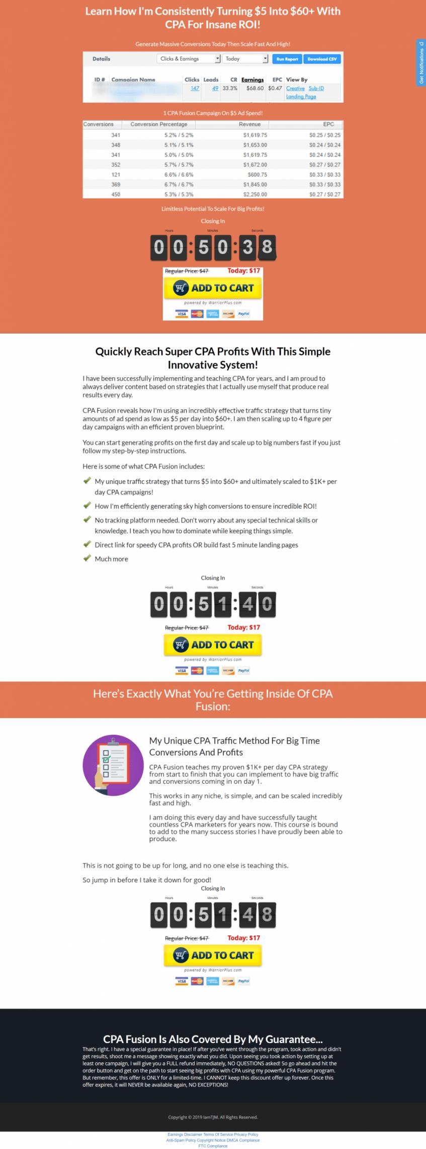 了解我是如何持续地把$5美元变成$60美元+以上的! CPA - 疯狂的投资回报率。(CPA Fusion)