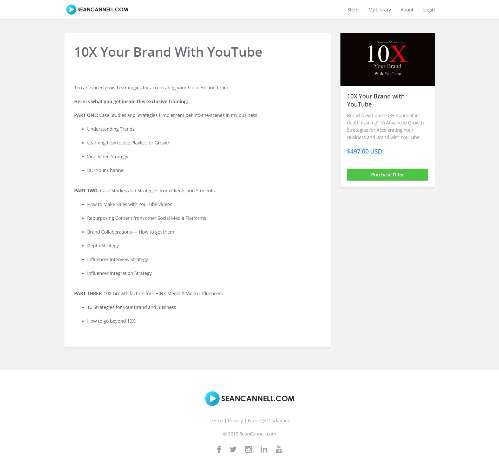 全新的三小时的深度培训 - 十个高效的策略教你利用YouTube加速您的业务和品牌成长(10X Your Brand with YouTube)