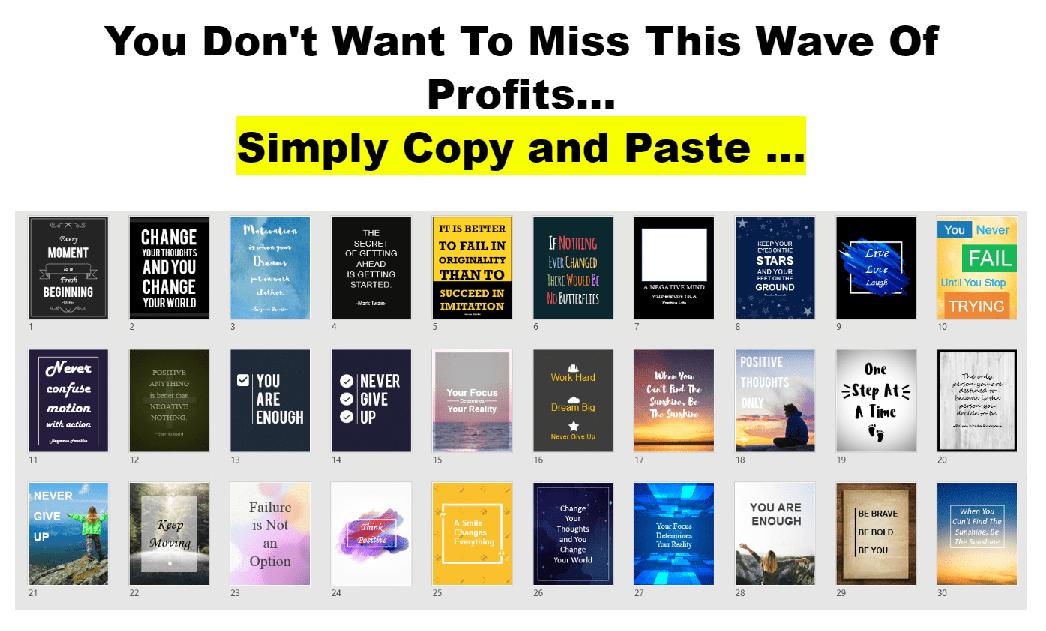 可病毒式传播的专业设计的整版励志小海报素材下载(Viral Motivation Minis )
