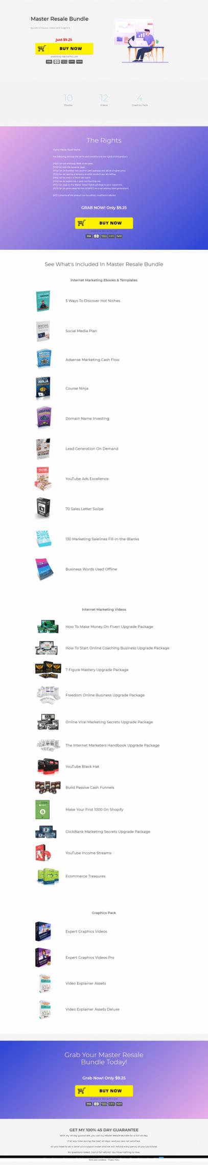 Bundle of Ebooks, Videos and Graphics.(Master Resale Bundle)