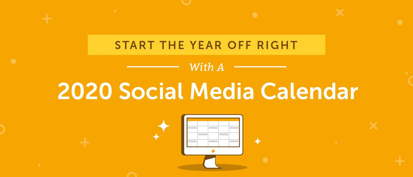 利用2020年社交媒体内容日历解决社交媒体问题,节省时间和压力。(2019-2020 Social Media Content Calendar)