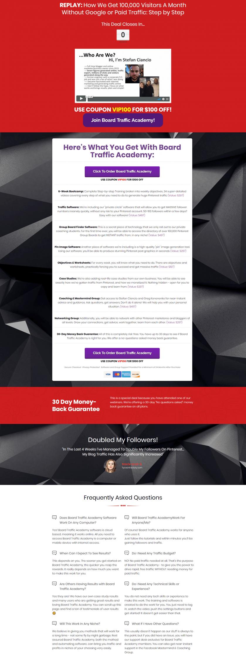 我们如何在没有谷歌或付费流量的情况下每月获得10万流量的!(Board Traffic Academy)