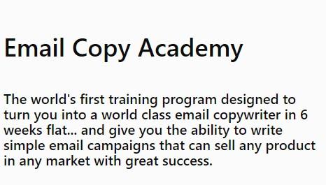 教你写最简单的电子邮件活动文案,可以销售任何产品在任何市场取得巨大的成功。(Email Copy Academy)