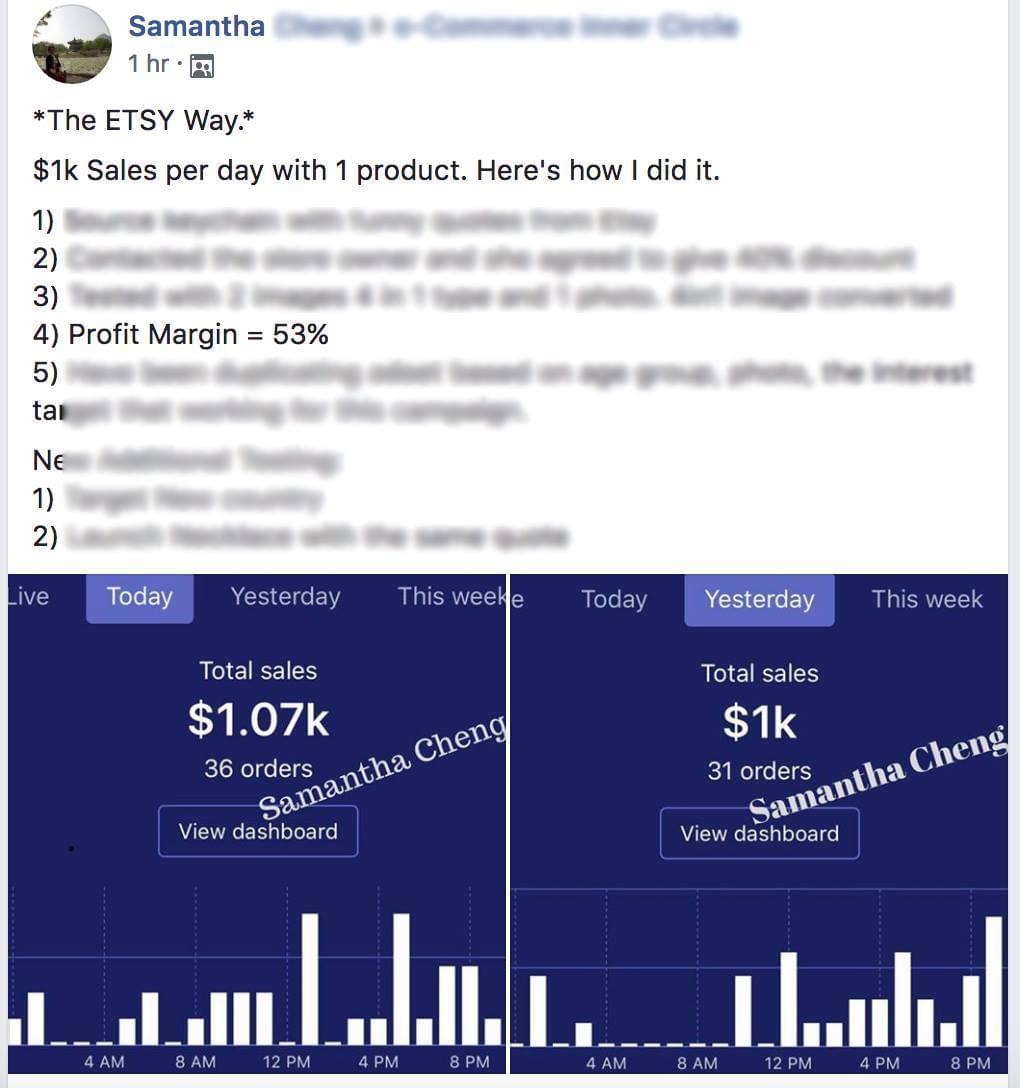 在没有速卖通、亚马逊或eBay的情况下,30天内创造了,539美元的销售额,全新的电商平台战略指导!(K Etsy Private Group Coaching)