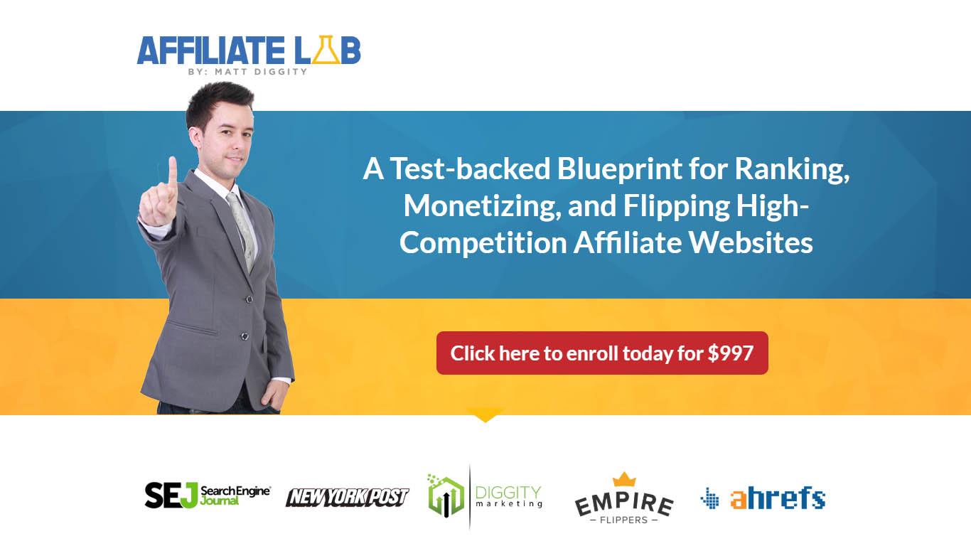 建立一个经过测试的,高排名的,易货币化的,高竞争的联盟附属营销网站指南。(Affiliate Lab)