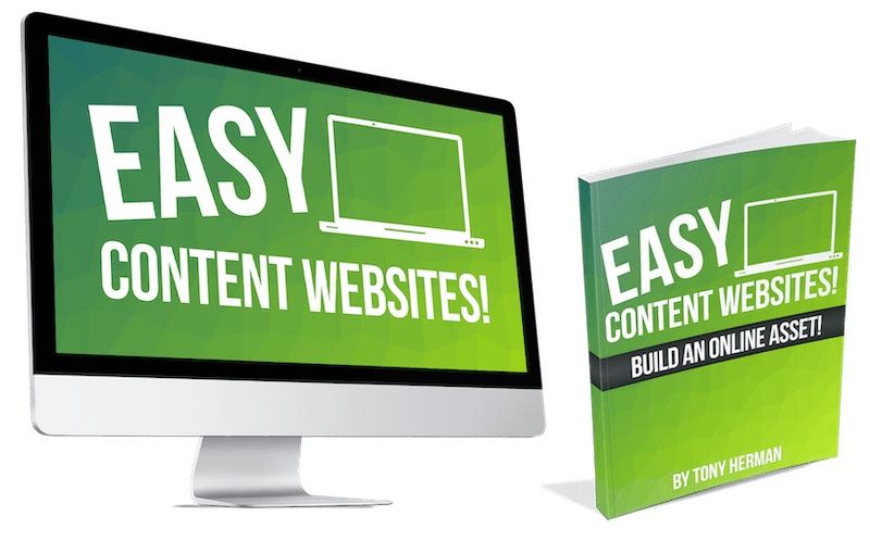 """教您如何建立""""内容""""网站,只需要一丢丢推广就能获得排名及流量。(Easy Content Websites)"""