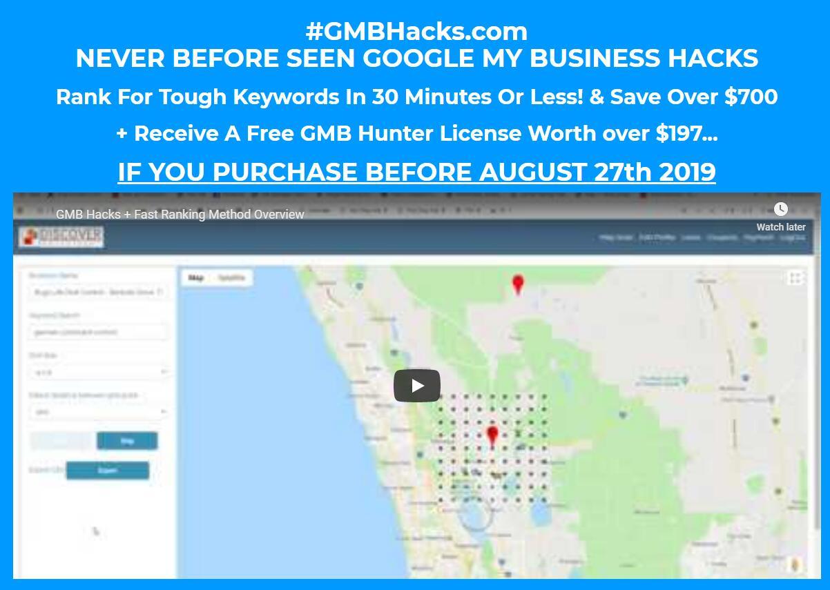 三十分钟或者更少时间搞定搜索引擎排名优化(GMB Hacks)