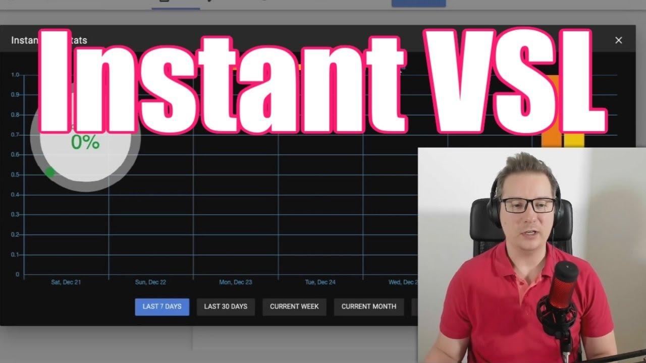 轻松的方式,创造完美的VSL,生成完美的视频销售网页仅需30秒。(Instant VSL)