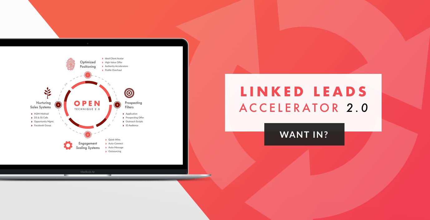 学习每周在LinkedIn上用每天不到10分钟的时间创造5-10个客户机会所需的知识都在这里!(Linked Leads Accelerator)