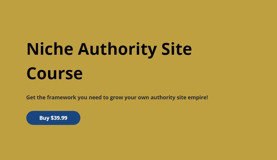 教您如何从一个空洞的网站把它变成一个权威的利基网站,并出售五到六位数金额,或者保留它每个月从你的网站赚四到五位数!(Niche Authority Site Course)