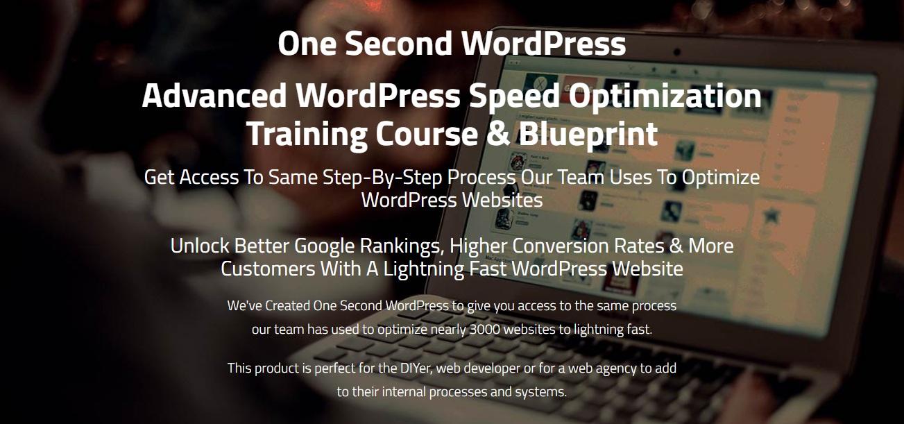 WordPress速度优化培训课程&高级蓝图(One Second Wordpress)